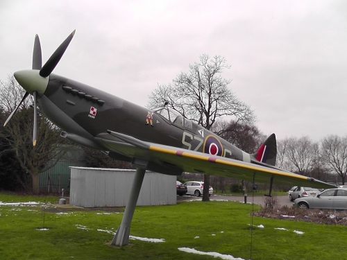 Recently refurbished Spitfire, with Polish colours emblazoned on